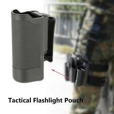 Led Flashlight Torch Belt Pouch Holster Holder Carry Tactical Black Nylon H3H9