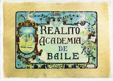 Cartel reproduciendo un azulejo Sevillano de Realito Academia de Baile (CD-856)