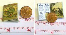 1222# Engl. Miniatur Kinderbuch - Cock Robin - Puppenhaus-Puppenstube - M 1zu12