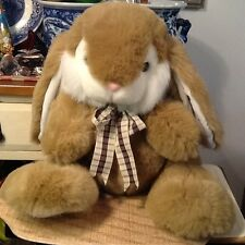 "20"" VINTAGE Tai kwang Toy CO.,LTD  BUNNY RABBit Tan/ white  STUFFED ANIMAL Cute"