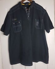 George Men's Black Short Sleeve Shirt T Shirt Polo Top Size XXL