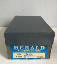 Herald Announcements Ivory 4 Bar Panel Cards 500 Ct (80% Full)