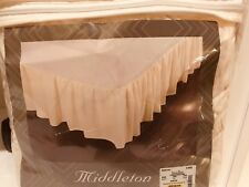 King Bed Skirt by Middleton-Ivory/Cream - 15�Drop-78x80- New In Original Packing