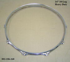 "14"" 10-Lug Triple Flanged H/D Hoop / Ring / Rim Snare, Toms, Drums 002-106-268"