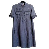 Faherty Size XS Piecrust Shift Mini Dress Ruffle Flannel Feminine Cozy Fall NWT