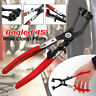 45° Car Water Pipe Fuel Hose Clamp Pliers Swivel Drive Jaw Lock Removal Tool +