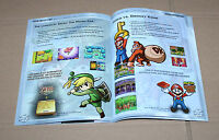 Nintendo Game Boy Gamecube German Ad Booklet Flyer Mario Paper Zelda Donkey Kong