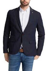 Hugo Boss Men's 'Borvette_R-W' Slim Fit Dark Blue Sport Coat Blazer 40R