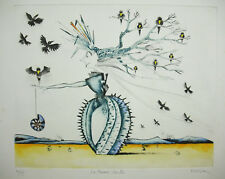 Jean-Marie MUNIER(1957) la femme cactus 4/75 surréalisme yves tanguy S.Dali