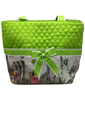 Quilted Diaper Bag/Tote/Purse with Small Cosmetic Bag & Changing Pad NWT