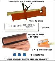 Snooker and Pool Cue Re-Tipping Kit. Cue Tipping Tools.