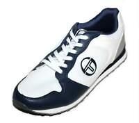 Sergio Tacchini Mens Grey White Blue Eve Trainers Shoes [TTG00912]
