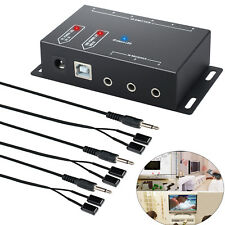 IR Verlängerung Fernbedienung Extender IR Repeater System 1 Empfänger 6 Emitter