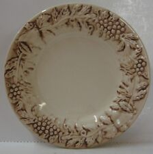Euro Ceramica VINEYARD Salad Plate BROWN HIGHLIGHTS More Available