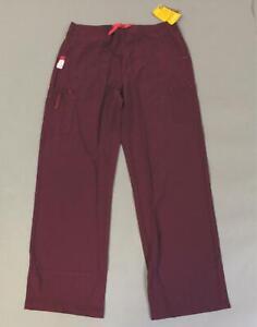 Carhartt Women's Boot Cut Cross-Flex Utility Scrub Pants SG8 Wine Large NWT