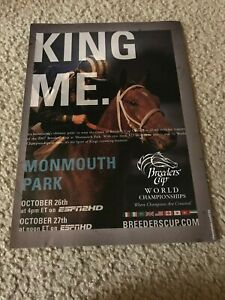 Vintage 2007 BREEDERS' CUP HORSE RACING ESPN Poster Print Ad CORINTHIAN RARE