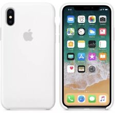 Apple iPhone X Silicon Case Ultra Slim Great Handling Original Cover - White