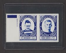 1961-62  TOPPS  STAMP PANEL W/TAB  CY DENNENY / MOOSE GOHEEN   INV  J9097