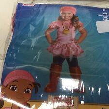 Disney Jr Dress Up Costume IZZY From Jake & Neverland Pirates TODDLER 2t