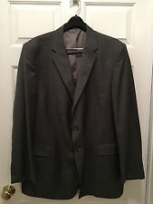 NWT Sewell Men's Two Button Worsted Wool Suit Gray 50L 50 Long 44W