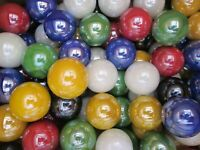 2 POUNDS 7/8 INCH 6 COLOR PEARLY FINISH MEGA / VACOR MARBLES FREE SHIPPING