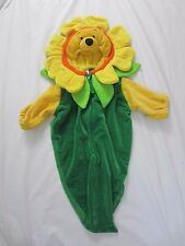 Disney Store Winnie the Pooh Velour Bunting Costume  0-3 Months Zip Front  C10
