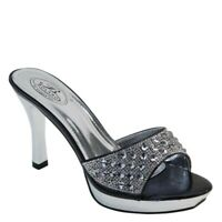 New Brieten Women's Bling Rhinestone Platform High Heel Slide Sandals