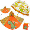 3 tlg. Set: Regenschirm + Regenponcho / Regencape - Dinosaurier - Dino - Gr. 104