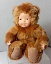 Anne Geddes Golden Teddy Bear Baby Doll Plush 8 In