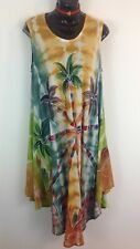 Made in India  Rayon Tye dye effect, screen print summer dress size free 12_16