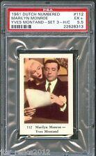 1961 Dutch Gum Card #112 MARILYN MONROE Yves MONTAND Let's Make Love PSA 5.5