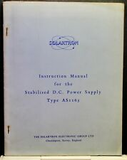 Solartron  Voltage Stabalised Power Supply AS1155 Vintage manual