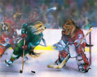 Dogs Playing Hockey  -Replica of COOLIDGE 16 in x 20 in Print