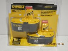DeWALT DC9096-2(2-PAK) 18V XRP-NICAD Battery Pack-2017 DATE-F/SHIP-NEW SEALED PK