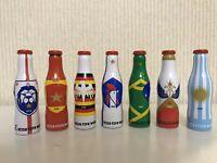 Coca Cola very rare set of 7 aluminum mini bottles Fifa 2018 from Russia
