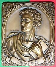 RELIGIOUS/PROPHET ISAIAS/FIRST PROPHET / BRONZE MEDAL BY ANTUNES /252g-3.5x2.9´´
