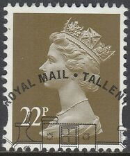 GB Stamps 2009 Machin Definitive 22p Olive Brown, 2 Bands, S/G Y1774, VFine Used