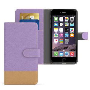 Apple IPHONE 6 cover IPHONE 6s Case Wallet Book Flip Case Jeans Purple