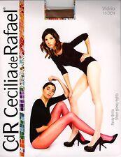 Cecilia de Rafael Vidrio 15 den STW Hi-Gloss Pantyhose - XX-Large - Dark Tan