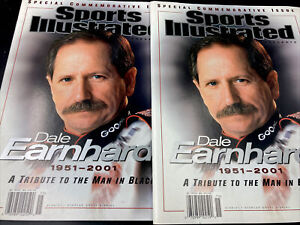 Pair of 2 Sports Illustrated Commemorative Issue: Dale Earnhardt Nascar