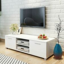 vidaXL TV Hifi Cabinet Sideboard Unit Stand High-Gloss White MDF Low Board