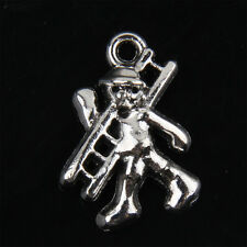 25pcs Tibetan Silver Construction Workers Charms Pendant for Jewelry 20mm ABF118
