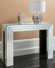 Corona venetian bevelled MIRRORED furniture Glass CONSOLE Hall Table 100cm wide