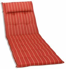 KMH® Sonnenliegen rot Auflage Polster Liegenauflage Sonnenliege Kissen Liege