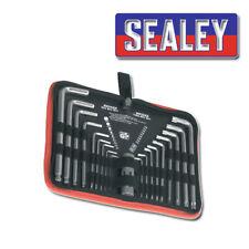 Sealey AK7157 Cromo Trx-Star & bola-final llave hexagonal Larga Bolsa De Herramientas Set 19 PC Kit