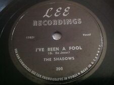 THE SHADOWS I've Been A Fool / Nobady Knows 78 RPM LEE 200 (VG)