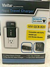BOGO 2x   Vivitar Rapid Travel Charger for GoPro AHBT-401 and similar models