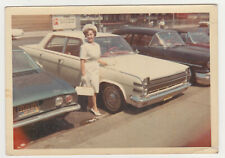 Pretty Woman Lady Oldtimer Car Unusual 1960s Snapshot VTG Old Photo