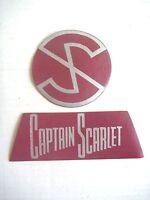 CAPTAIN SCARLET GERRY ANDERSON VINYL PATCH SET 1960S LINDSAY'S AUSTRALIA ONLY NM