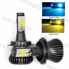 2x Dual Color H7 LED Bulbs Car Fog Light Lamp DRL Driving Yellow Ice Blue 180W